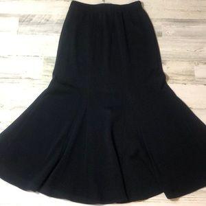 St John Collection Black Long Mermaid Skirt 2